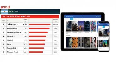 TELECENTRO, RATIFICADO POR NETFLIX: el operador de Internet más veloz del país, datos de abril