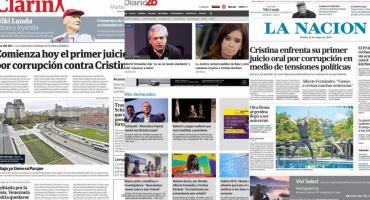 Tapas de diarios argentinos: comienzo de juicio contra Cristina Kirchner