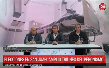 Uñac, tras triunfo en elecciones en San Juan: