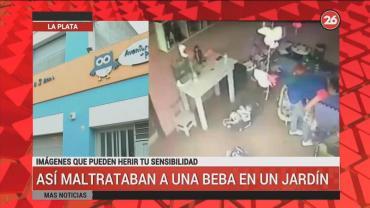 Video: así maltrataban a una beba de 4 meses en una jardín de La Plata