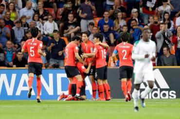 Corea del Sur eliminó por penales a Senegal en el mejor partido del Mundial Sub 20