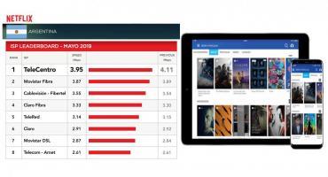 TELECENTRO, ratificado por NETFLIX también en mayo: es el operador de Internet más veloz del país
