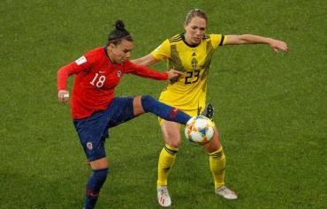 Suecia fue más y le ganó con contundencia a Chile en el Mundial Femenino