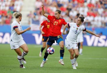 Estados Unidos venció a España y pasó a Cuartos del Mundial Femenino