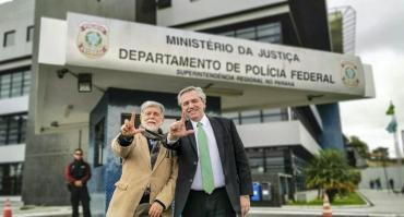 Alberto Fernández visitó a Lula da Silva en la cárcel
