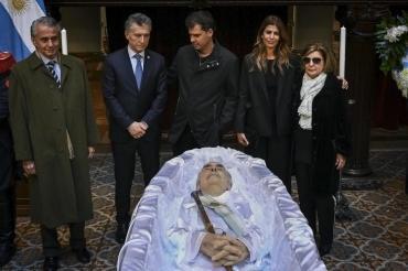 Mauricio Macri despidió los restos de Fernando De la Rúa en el Congreso