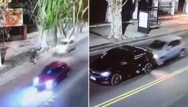 Video: conductor alcoholizado arrolló a un ciclista y, al escapar, chocó contra otro auto