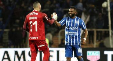 Godoy Cruz dejó escapar una buena ventaja ante Palmeiras y buscará la hazaña en Brasil