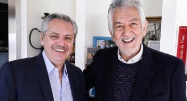 Alberto Fernández, junto al gobernador de San Luis Alberto Rodríguez Saá
