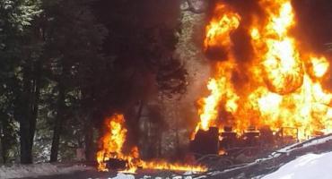Accidente en la Ruta 7 Lagos: vuelco e incendio de camión cisterna dejó un muerto y heridos