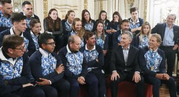 Macri recibió a los atletas argentinos que participaron en los Juegos Panamericanos de Lima