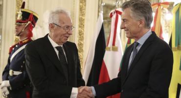 Macri recibió las cartas credenciales de Ricardo Valero en Casa Rosada