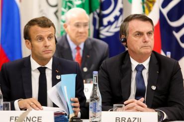 Incendio en la Amazonia: cruce entre Bolsonaro y Macron por el cambio climático