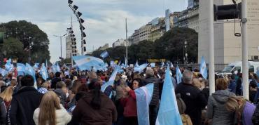 #24A en imágenes: marchas en apoyo a Macri bajo el lema