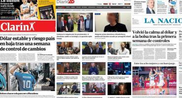 Tapas de diarios argentinos: dólar, control cambiario y elecciones 2019
