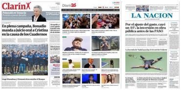 Tapas de diarios argentinos: presentación de Maradona, Nadal campeón y marcha por Vidal