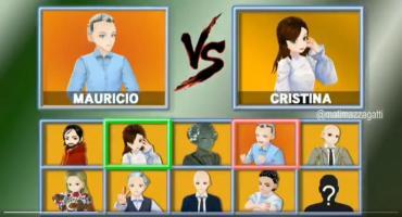 Videojuego animé en tiempos de Elecciones: se enfrentan Macri y Cristina y es viral