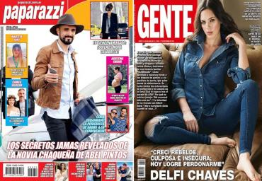 Tapas de revistas: del romance misterioso de Abel Pintos a las confesiones de Delfina Chaves, Flor Vigna y Dolores Fonzi