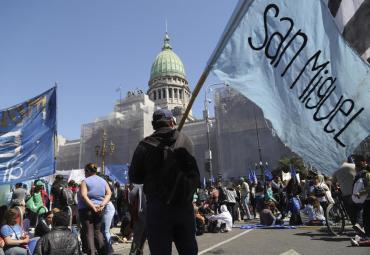 Emergencia alimentaria: organizaciones sociales se manifestaron frente al Congreso