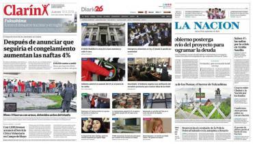 Tapas de diarios argentinos: paro docente, aumento de naftas y victoria de River