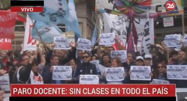 Paro nacional docente: marcha desde el Obelisco a la Casa de Chubut