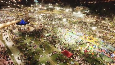 Merlo inauguró el Parque de la Unidad Nacional en un masivo evento
