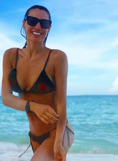 Pampita, vacaciones, chica hot