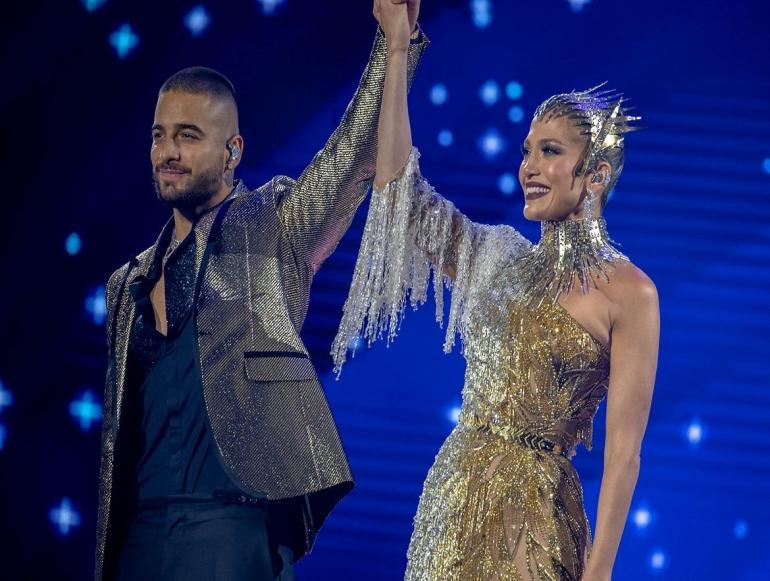 Jennifer Lopez y Maluma deslumbraron en el Madison Square Garden