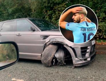 Sergio Agüero protagonizó un accidente de tránsito y así quedó su lujosa camioneta