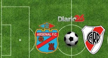 EN VIVO ONLINE: pensando en el Superclásico por Copa, River visita a Arsenal con suplentes