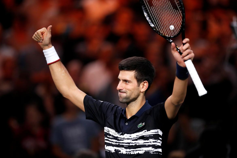 Triunfo de Novak Djokovic en el Masters 1000 de Paris, REUTERS