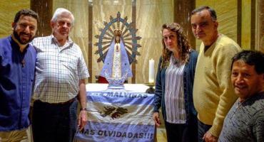 Se suspendió la llegada país de la Virgen de Luján que estuvo en Malvinas