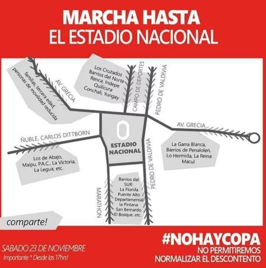 Convocan a marcha para final de Copa Libertadores