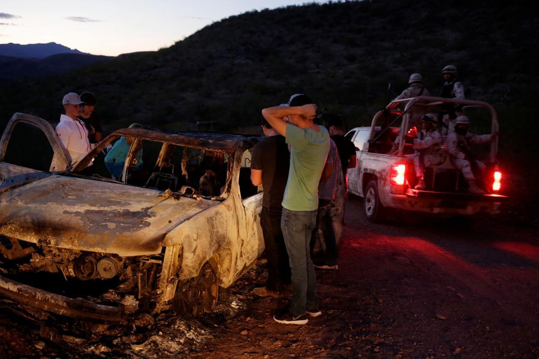 Masacre en México, restos de auto de la familia, REUTERS
