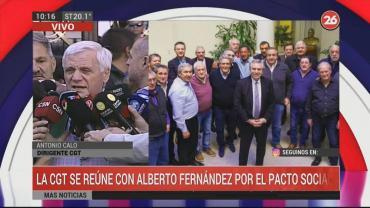 Caló y Viviani respaldaron el pacto social que busca Alberto Fernández: