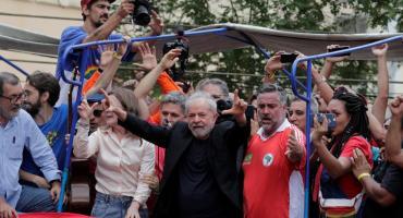 Lula habla ante la militancia en el Sindicato de los Metalúrgicos