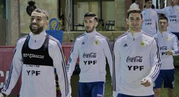 Messi y la Selección Argentina desataron la locura de los hinchas en Mallorca