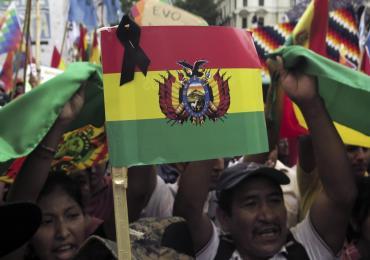 Organizaciones sociales marcharon a Plaza de Mayo en apoyo a Evo Morales