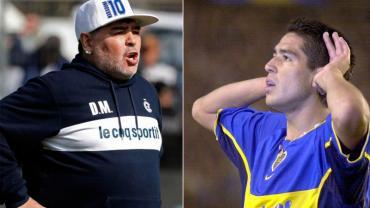 Maradona se metió en la política de Boca y apuntó contra Riquelme