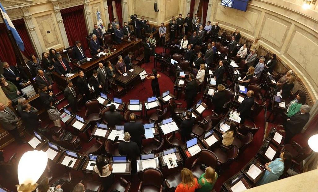 Jura de los 24 senadores nacionales electos el 27 de octubre