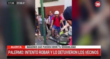 Vecinos detuvieron a un ladrón en Palermo cuando intentaba robar un celular