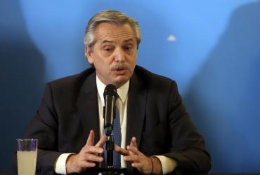 """Alberto Fernández dijo que en las negociaciones con el FMI """"está todo bien encaminado"""""""
