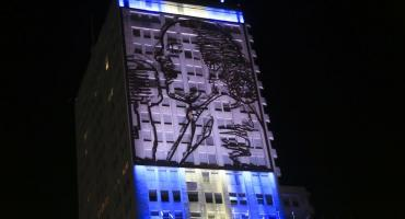 Imagen de Evita en Ministerio de Desarrollo Social volvió a iluminarse tras 4 años