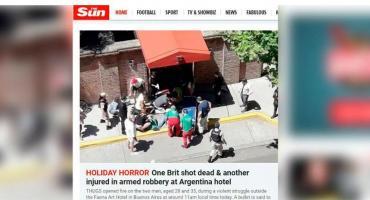 Medios británicos reflejaron ataque motochorro a turistas ingleses: