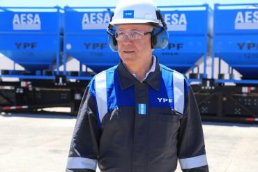 Guillermo Nielsen visitó Vaca Muerta por primera vez como presidente de YPF