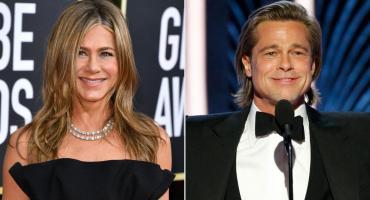 Brad Pitt en los Globo de Oro: su discruso y la mirada de Jennifer Aniston en medio de la ceremonia