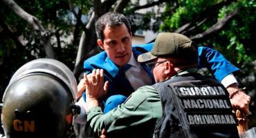 Juan Guaidó, antes de presidir la sesión del Parlamento: