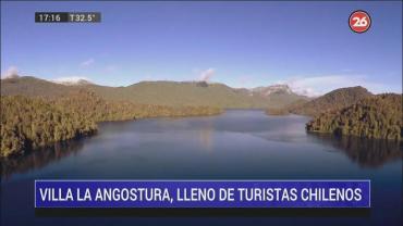 Villa La Angostura, colmada de turistas chilenos y un éxito de la temporada 2020