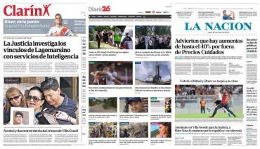 Tapas de diarios argentinos: River puntero y crimen en Villa Gesell
