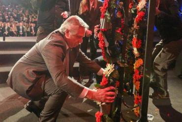 Alberto Fernández rindió tributo a las víctimas del Holocausto
